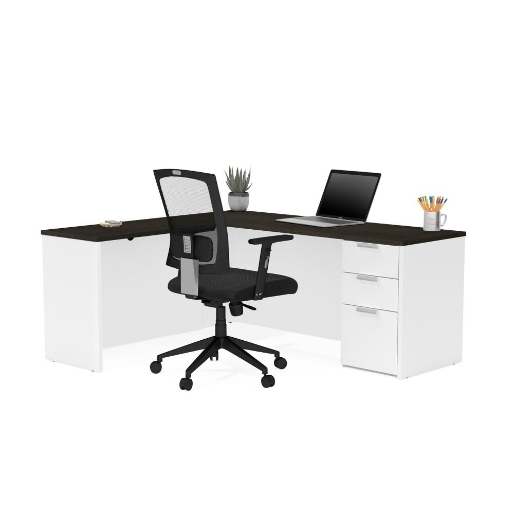 Pro Concept Plus L-Shaped Desk White - Bestar