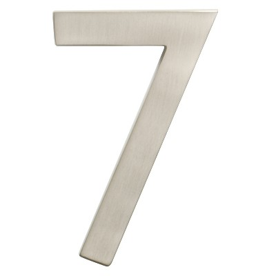 """Architectural Mailbox 4"""" Cast Floating House Number 7 Nickel"""