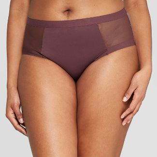 Womens High Waisted Briefs - Auden™ Burgundy Mist XL