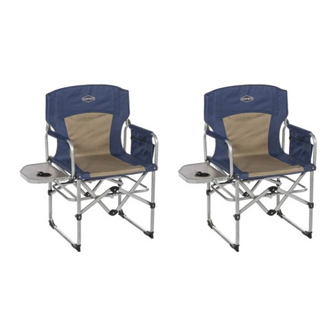 Kamp Rite Compact Folding Outdoor Camping Directors Chair W Side Table 2 Pack