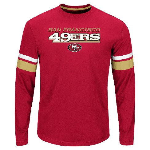 San Francisco 49ers Men's Long Sleeve Accent Stripes T-Shirt L - image 1 of 1