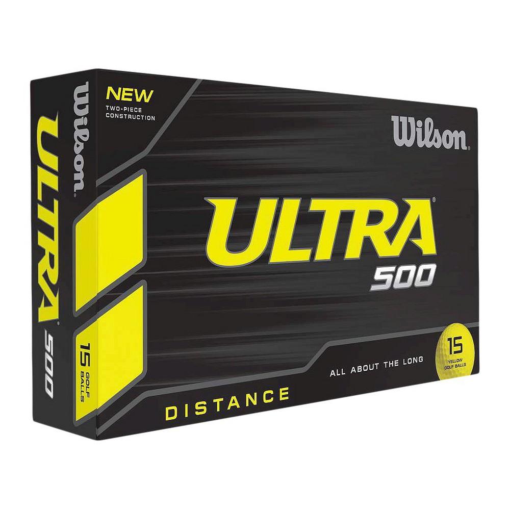 Wilson Ultra 500 Distance Golf Balls 15pk - Yellow