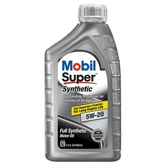 Mobil Super Synthetic Motor Oil 5W-20 1 Quart