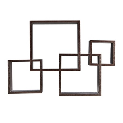 "25.5"" x 17.75"" Intersecting Cube Wall Shelf Black - Danya B."