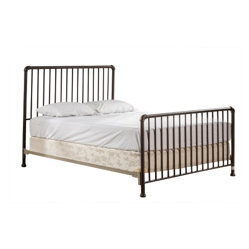 Brandi Metal Bed Set Full Bed Frame Included Oiled Bronze - Hillsdale Furniture - image 1 of 9