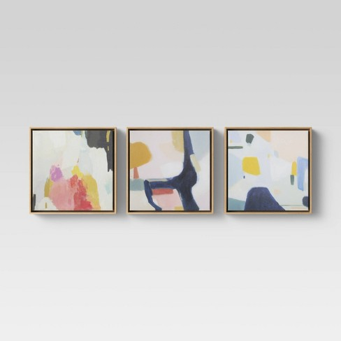 "Set of 3 12""x12"" Framed Canvas- Project 62™ - Project 62™ - image 1 of 4"