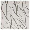 Oakdale Textured Linen Motif Grommet Top Window Curtain Panel Pair Exclusive Home - image 4 of 4