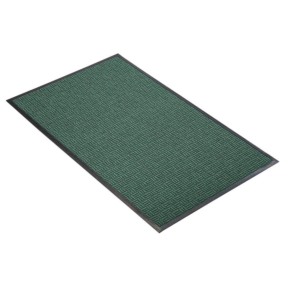 Hunter Green Solid Doormat - (4'X6') - HomeTrax