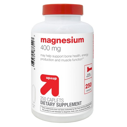 Magnesium Dietary Supplement Caplets - Up&Up™ - image 1 of 2