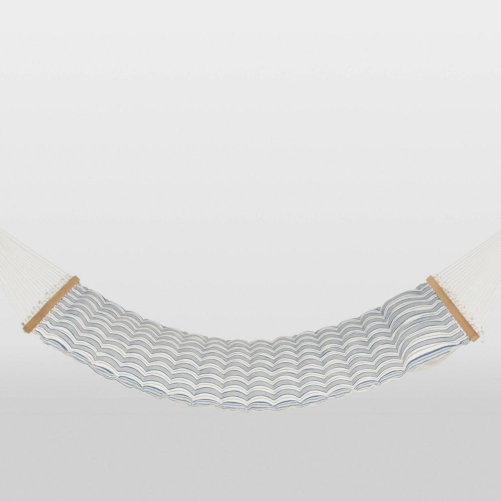Linen Striped Pillow Top Hammock - Blue/White - Threshold