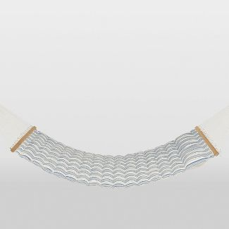 Linen Striped Pillow Top Hammock - Blue/White - Threshold™