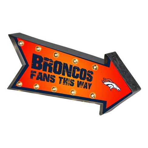 NFL Denver Broncos Arrow Light Up Marquee Sign - image 1 of 1