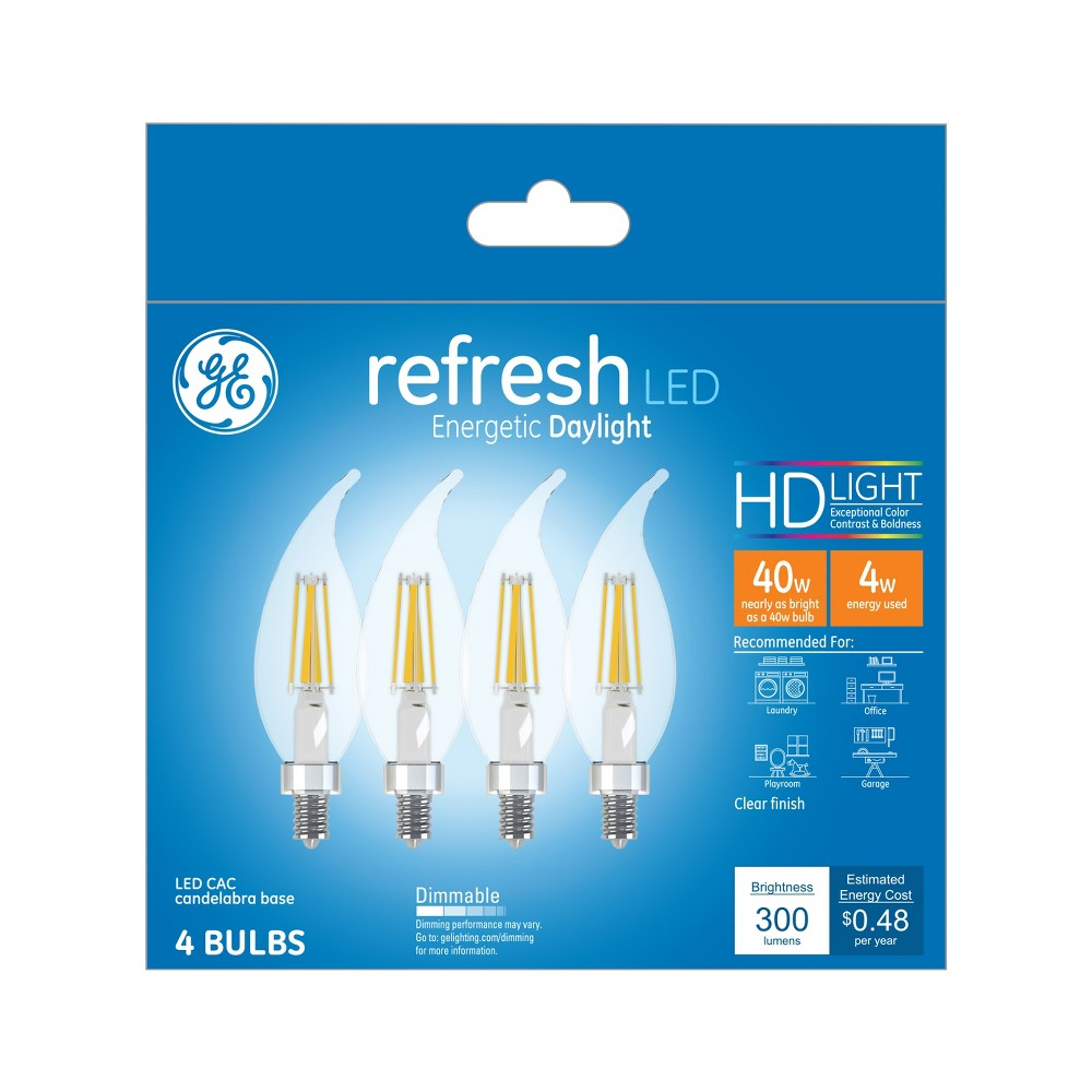 General Electric 4pk 40w Refresh Led Light Bulb Dl Cac Clear