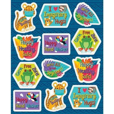 One World Germ Busters Shape Stickers - Carson Dellosa