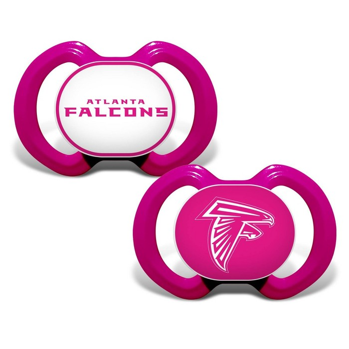 NFL Atlanta Falcons Pink Pacifiers 2pk - image 1 of 1