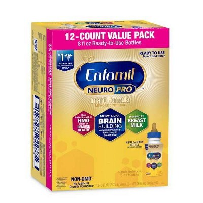 Enfamil NeuroPro Ready to Use Infant Formula Bottles - 12ct/8 fl oz Each