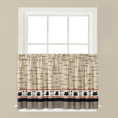"""Saturday Knight Ltd Cafe Window Valance With 3/4"""" Rod Pocket - (58""""x13"""") in Linen Color"""