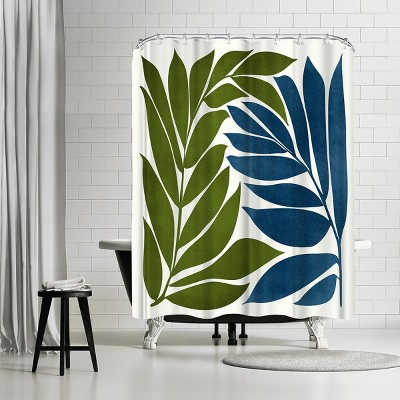 """Americanflat Deep Woods by Modern Tropical 71"""" x 74"""" Shower Curtain"""
