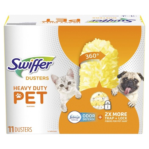Swiffer Dusters, Pet Heavy Duty Refills with Febreze Odor Defense - 11ct - image 1 of 4