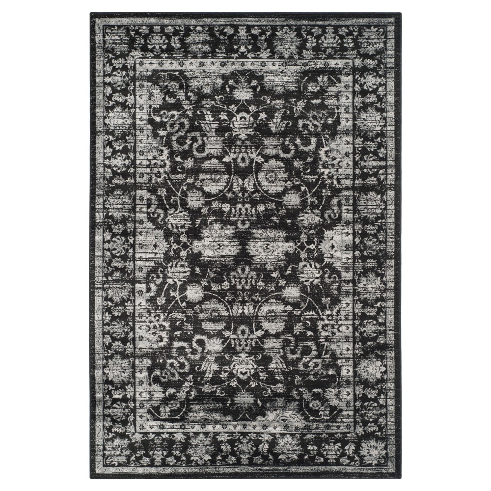 Maxine Vintage Area Rug - Black / Light Gray ( 4' X 5' 7 ) - Safavieh