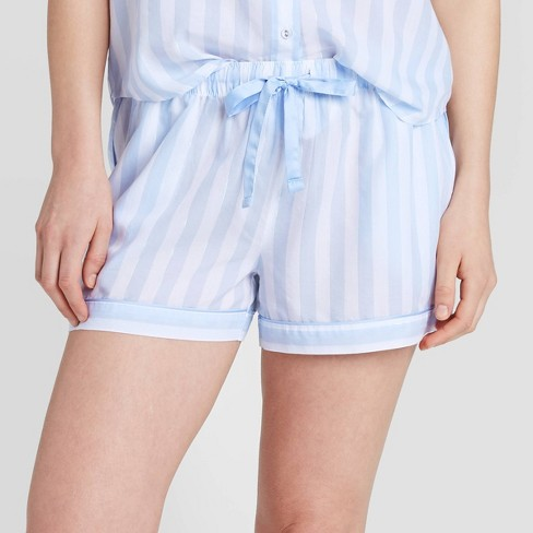 Women's Striped Simply Cool Pajama Shorts - Stars Above™ Blue - image 1 of 3