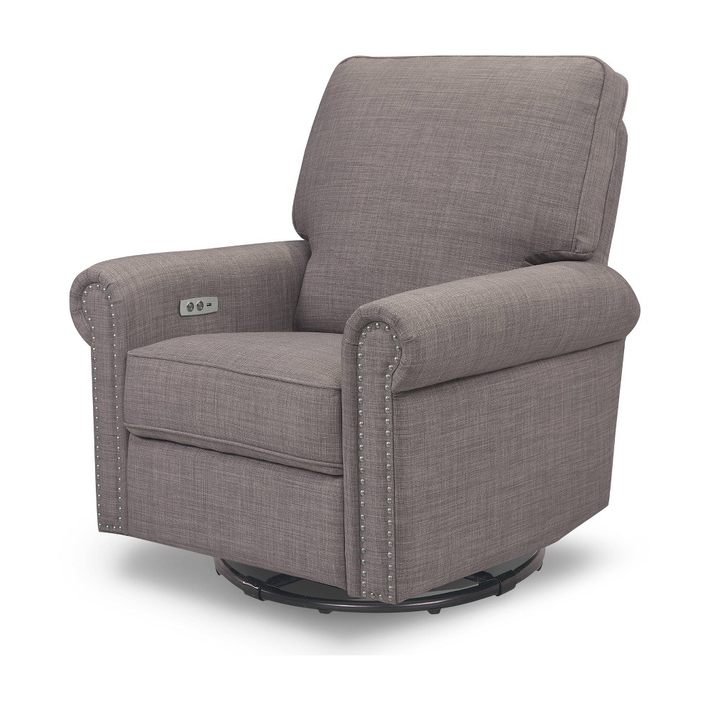 Million Dollar Baby Classic Linden Power Recliner - Gray Tweed, Grey Tweed