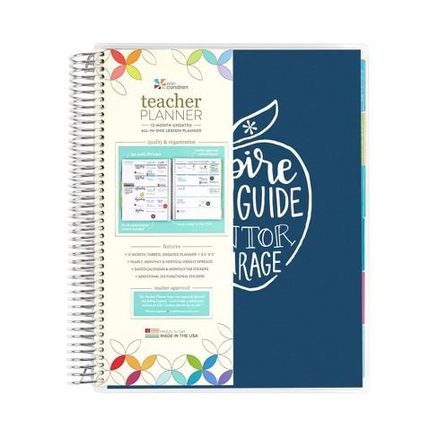 "Undated Teacher Planner 8.5"" x 11"" Teach & Inspire - erin condren - image 1 of 4"