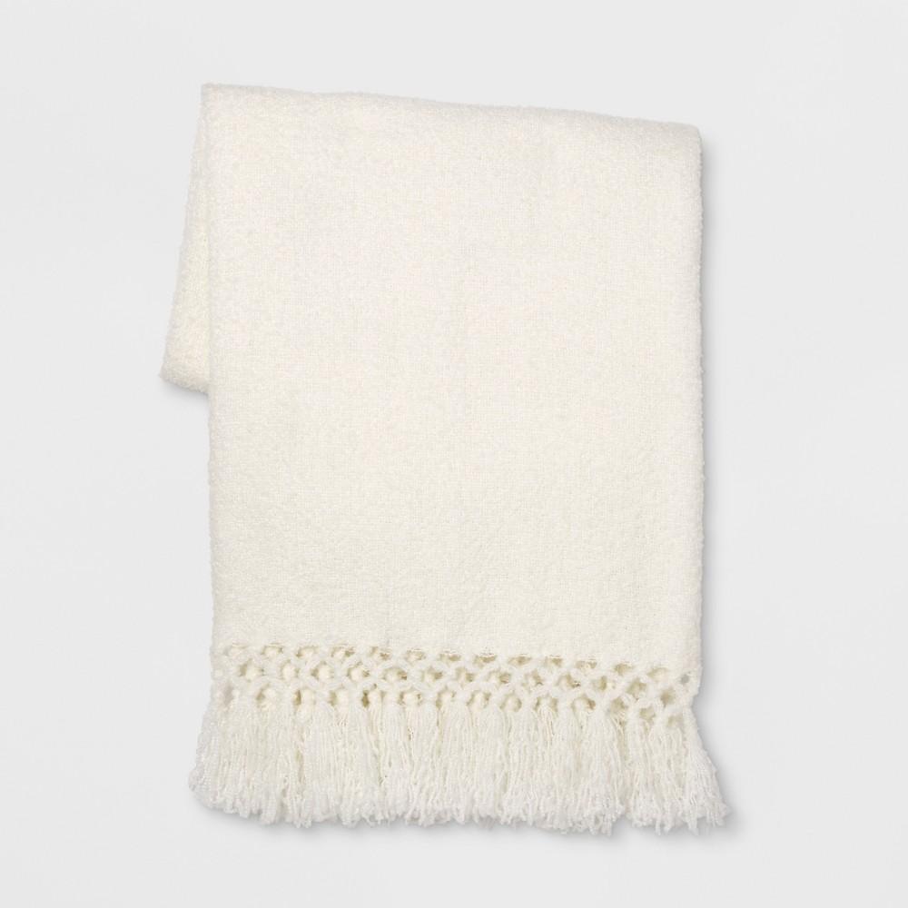 Throw Blanket Solid Cream (Ivory) - Opalhouse