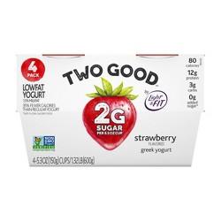 Dannon Two Good Strawberry Yogurt - 4pk/21.2oz
