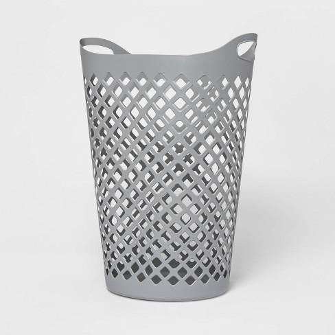 2.2bu Flexible Laundry Hamper Gray - Room Essentials™ - image 1 of 4