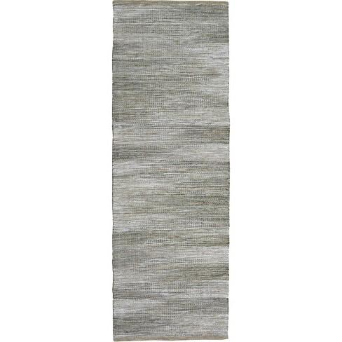 "2'3""X7' Runner Woven Rug Gray - Threshold™ - image 1 of 3"