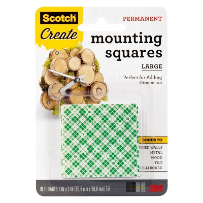 "Scotch Create 6ct 2"" Permanent Mounting Squares"