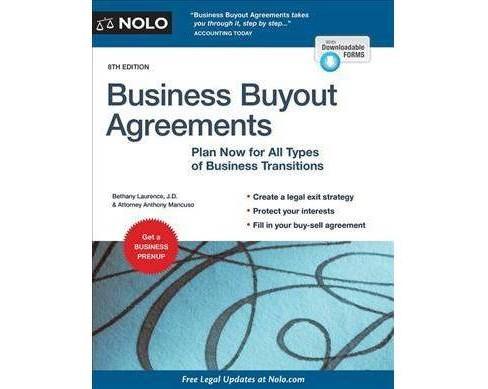 Business Buyout Agreements : Plan Now for All Types of Business Transitions -  8 (Paperback) - image 1 of 1