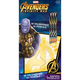 16ct Avengers Valentine Card Pack with Pencils