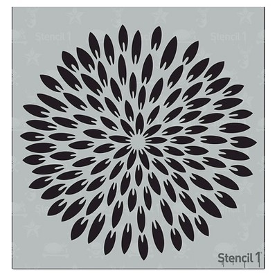 "Stencil1 Exotic Mum Pointy Petal - Stencil 5.75"" x 6"""