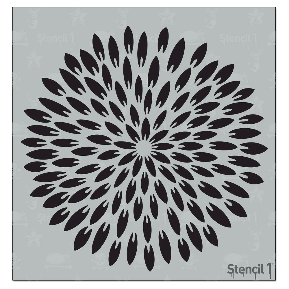 Stencil1 Exotic Mum Pointy Petal - Stencil 5.75
