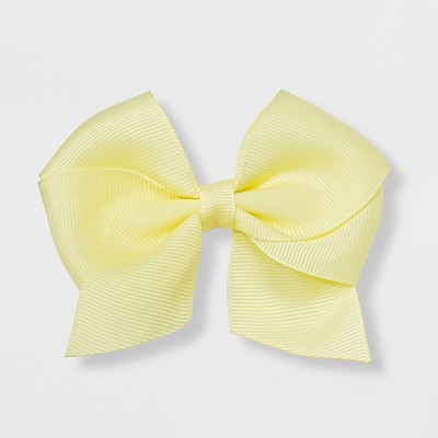 Girls' Solid Bow Clip - Cat & Jack™ Yellow