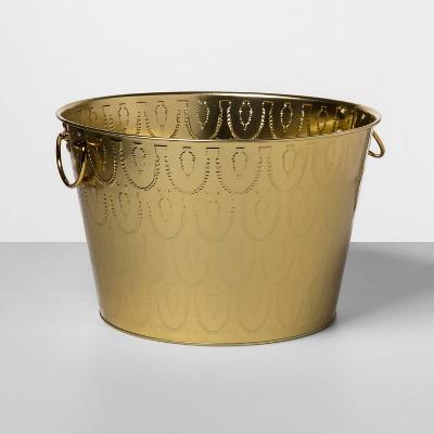 6gal Metal Embossed Beverage Tub Gold - Opalhouse™