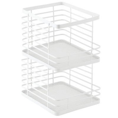 mDesign Modern Metal Wire Kitchen Cabinets, Pantry - 2 Pack