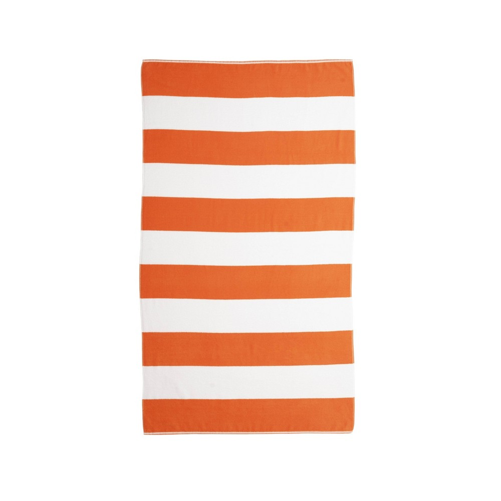 Image of Caro Cabana Beach Towel Orange - Caro Home