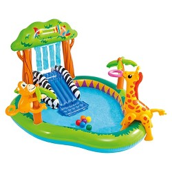 """Intex 85"""" X 74"""" X 49"""" Jungle Play Center Inflatable Pool with Sprayer"""