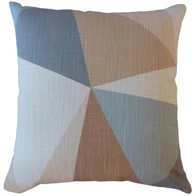 Colorblock Square Throw Pillow Khaki - Pillow Collection