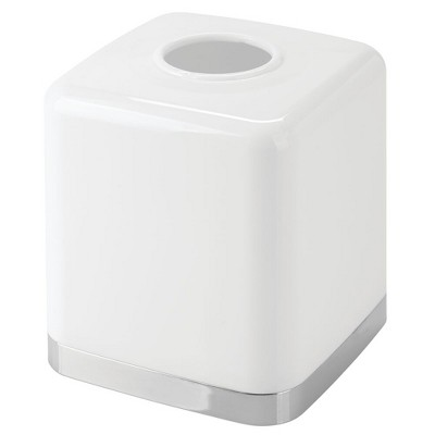 mDesign Modern Plastic Disposable Facial Tissue Box Cover