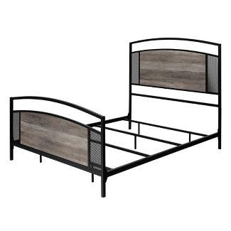 Queen Industrial Mesh Bed Gray Wash - Saracina Home