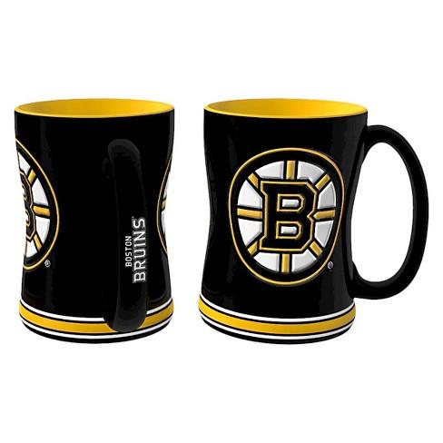 Boelter Brands NHL 2 Pack Boston Bruins Sculpted Coffee Mug - Black (14 Oz)    Target d5d1e14959fd