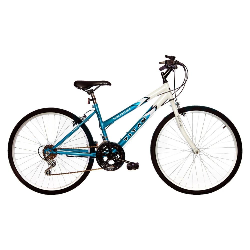 Titan Women's Wildcat 26 Mountain Bike - White/Teal (White/Blue)