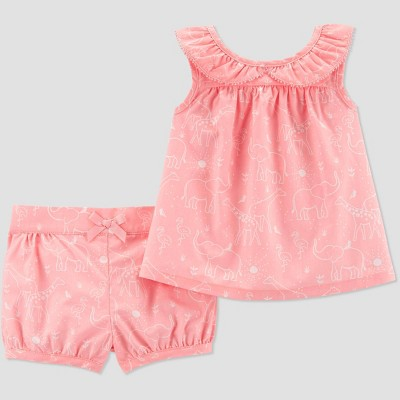 Baby Girls' Top and Bottom Set - Just One You® made by carter's Pink 9M