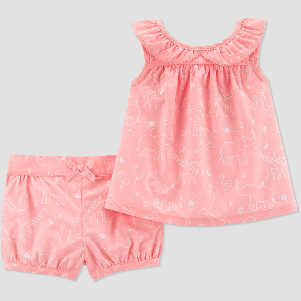 Baby Girls' Top and Bottom Set - Just One You made by carter's Pink Newborn