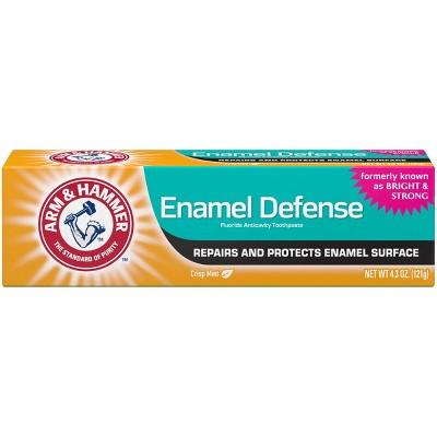 Arm & Hammer Crisp Mint Enamel Defense Fluoride Toothpaste - 4.3oz
