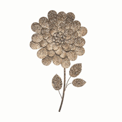 Antique Flower Wall Art - Foreside Home and Garden - image 1 of 2